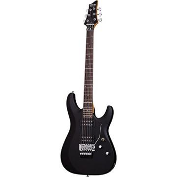 Schecter Guitar Research C-6 Deluxe with Floyd Rose Trem Electric Guitar Satin Black