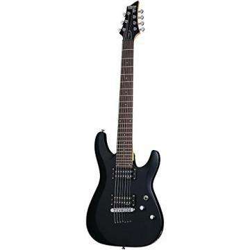 Schecter Guitar Research C-7 Deluxe Seven-String Electric Guitar Satin Black