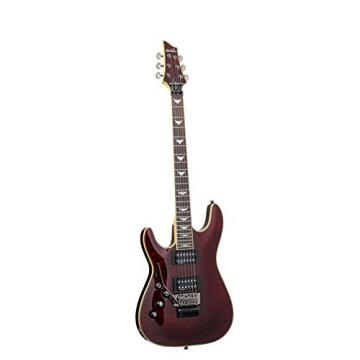 Schecter Omen Extreme-FR Electric Guitar (Black Cherry, Left Handed)