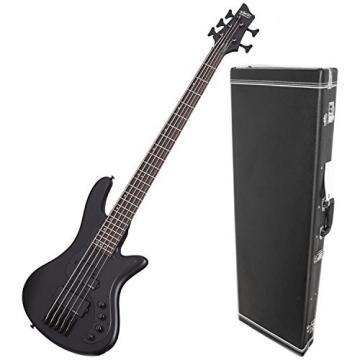 Shecter 2523 STILETTO STEALTH-5 Bass Guitar w/ Hardshell Case