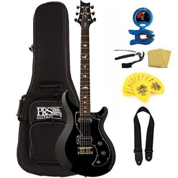 PRS S2 Vela Electric Guitar, Bird Inlays, Black, w/ guitarVault Accessory Pack
