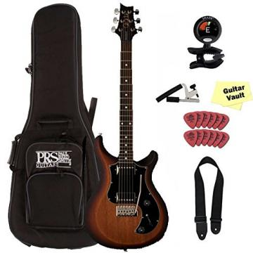PRS S2 Standard 22 Satin, Dots, McCarty Tobacco Sunburst, with Gig Bag and Accessory Kit