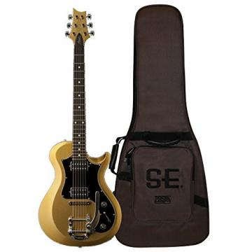 PRS D4TD04_EC S2 Standard 24 Electric Guitar, Egyptian Gold Metallic with Dot Inlays & Gig Bag