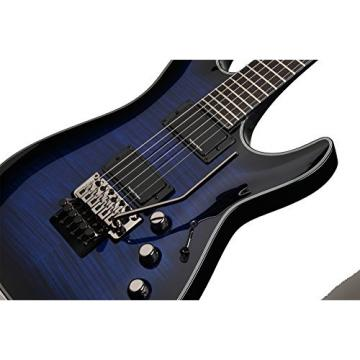 Schecter Blackjack Slim Line Series C-1 FR 6-String Electric Guitar, See-Thru Blue Burst, with Active Pickups