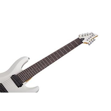 Schecter C-8 DELUXE Satin White 8-String Solid-Body Electric Guitar, Satin White