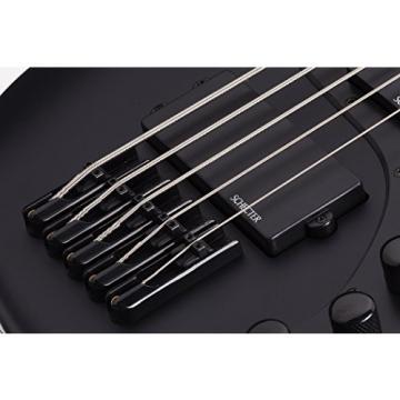Schecter 2523 5-String Bass Guitar, Satin Black