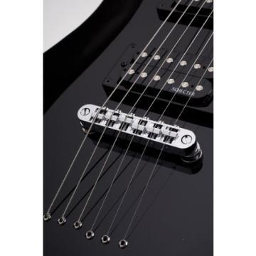 Schecter Omen-6 Electric Guitar (Gloss Black)