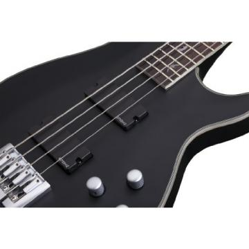 Schecter 1200 Damien Platinum 4-String Bass Guitar, Satin Black