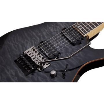 Schecter 1211 Floyd Rose 6 Passive Solid-Body Electric Guitar, Trans Black Burst