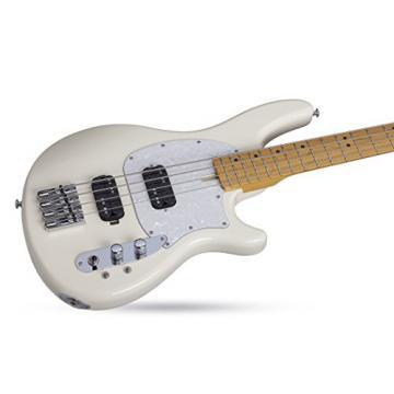 Schecter 2492 4-String Bass Guitar, Ivory