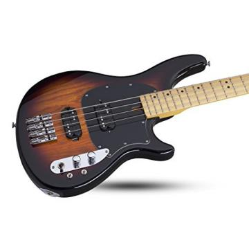 Schecter 2491 4-String Bass Guitar, 3-Tone Sunburst
