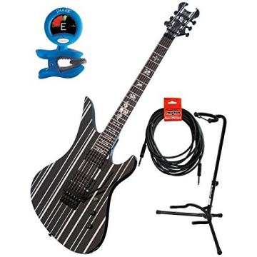 Schecter 28 Synyster Gates Standard Electric Guitar w/Guitar Stand, Tuner, and 18.6' Instrument Cable