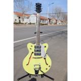 Project Hunter Green Back Cream Front Wider Double Cutaway Gretsch Guitar