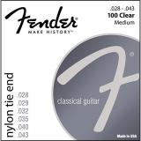 Fender 100 Clear/Silver Nylon Classical Guitar Strings - Tie End