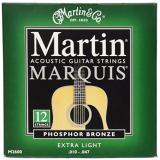 Martin M2600 Marquis Phosphor Bronze 12 String Acoustic Guitar Strings, Extra Light
