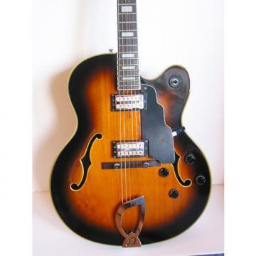 Custom 1999 DeArmond by Guild X-155 Hollow-body jumbo jazz box w/ OHSC in Tobacco Sunburst