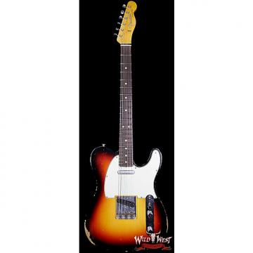 Custom Fender Custom Shop 1963 Telecaster Relic Rosewood Fretboard 3 Tone Sunburst