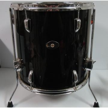 Custom Tama Swingstar black 16'' x 16'' floor tom