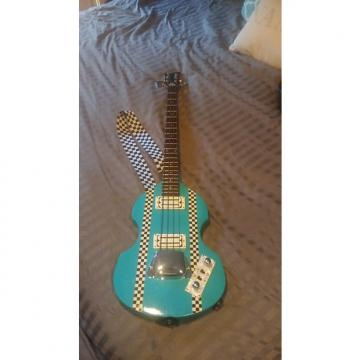 Custom Greco not Hofner (rebuild) Violin Bass 80's/90's  light blue/ turquoise
