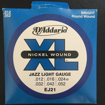 Custom D'Addario EJ21 Jazz Light Gauge Electric Guitar Strings (.012-.052) Nickel Wound