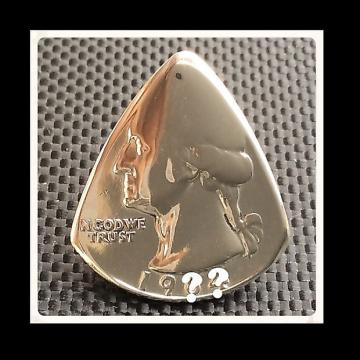 Custom USA quarter Coin Pick / Plectrum. Various Years. Round end