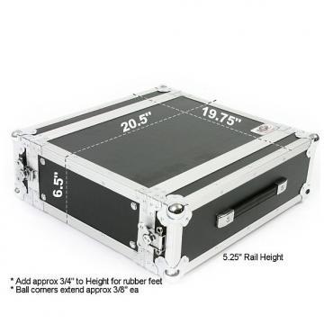 "Custom OSP 3 Space 20"" Deep Amp ATA Flight Rack Road Case"