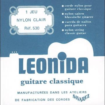 Custom Savarez 530 Leonida Classical Strings Clear Nylon Treble Silverwound Bass Normal