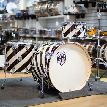 Custom SJC 3-Piece Custom Drum Kit In Barber Shop Finish