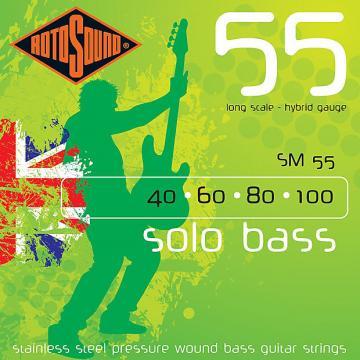 Custom Rotosound SM55 Linea Pressure Wound Bass Guitar Strings 40-100