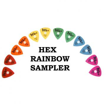 Custom Clayton Hex Guitar Pick  Rainbow Sampler Pack