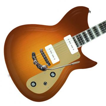 Custom Rivolta Guitars Combinata Deluxe Trem - Autunno Burst