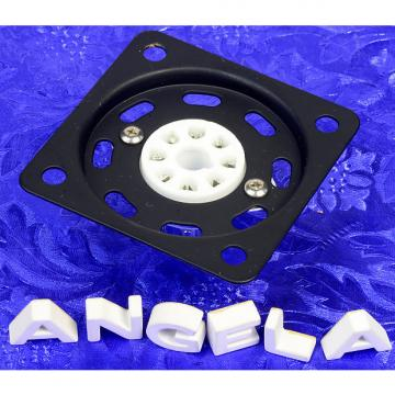 Custom Octal Tube Socket With Ventilated Mounting Plate New Flat Black Steel, Ceramic Socket