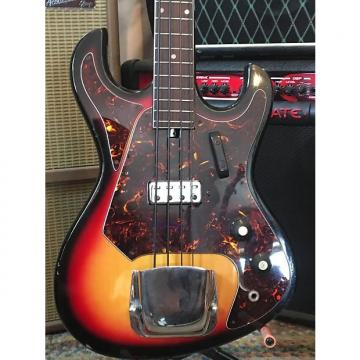 Custom Tiesco (?) Short Scale Bass 1960s 3 Color Sunburst
