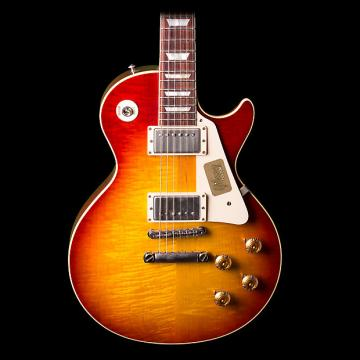 Custom Gibson '58 Les Paul Reissue Electric Guitar Plain Top VOS Washed Cherry Sunburst - Pre-Owned in Excellent Condition