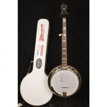 Custom 1929 Gibson TB3 conversion 5 string flathead banjo with a hardshell case