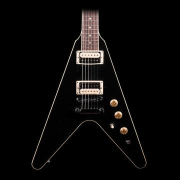 Custom Gibson Flying V Pro 2016 Electric Guitar in Ebony - Pre-Owned in Excellent Condition