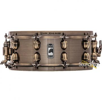 Custom Mapex 5.5x14 Black Panther Brass Cat Snare Drum