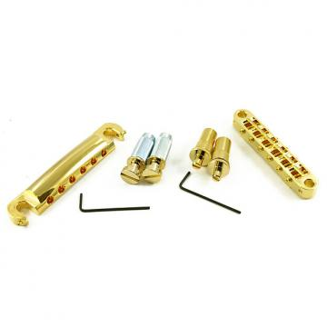 Custom Tone Pros LPGM02/GLD T3BT T1Z Bridge + Tailpiece Set Metric Gold T3BT-G T1Z-G