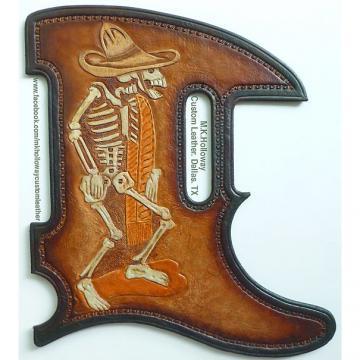 Custom Homage to Posada Leather Tele Pickguard