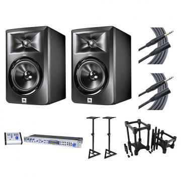 Custom 2x JBL LSR305 + Central Station PLUS + Stands + IsoAcoustics + Cables