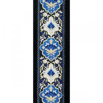 Custom D'Addario 50mm Jacquard Guitar Strap - Blue