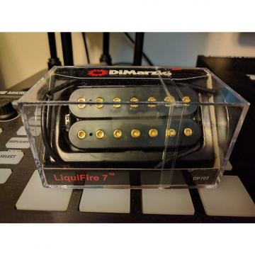 Custom DiMarzio Liquifire DP707 7-String Pickup 2013 Black with Gold hardware