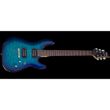 Custom Schecter C-6 Plus Electric Guitar Ocean Blue Burst