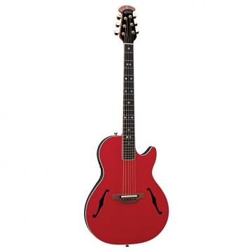 Custom Ovation YM68 Yngwie Malmsteen Viper Steel-String Red Acoustic-Electric Guitar