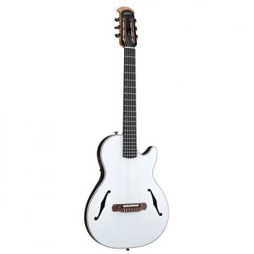 Custom Ovation YM63 Yngwie Malmsteen Viper Nylon-String White Acoustic-Electric Guitar