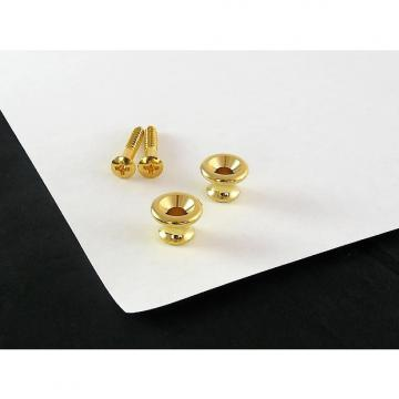Custom Strap Button Gold Set of 2 w/ screws for Gibson AP 6695-002