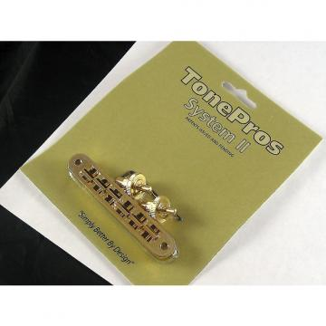 Custom Tone Pros TP6 US Locking Tunematic 4mm Small Posts Gold TP6-G