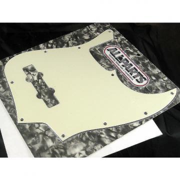 Custom Allparts Jazz Bass Pickguard Parchment 3 ply 10 Hole PG 0755-050