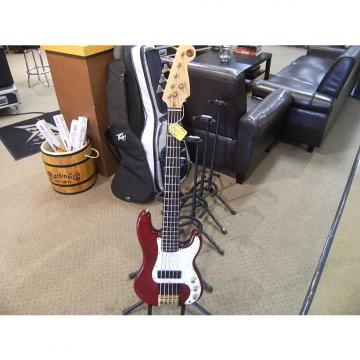 Custom Fender 90's Squier Korean Made 5 String Precision Bass Trans Ruby Red w/Gig Bag....Free Shipping!