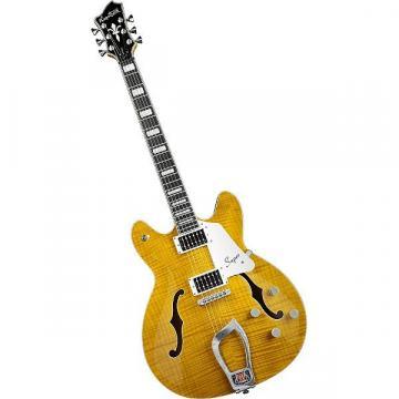 Custom Hagstrom Super Viking Flame Maple F Hole Electric Guitar SUVIK-DDL Dandy Dandilion NEW